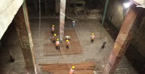 WORK IN PROGRESS AT NEHRU PARK STATION (27-11-2014)